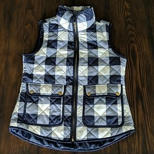 Quilted buffalo plaid vest